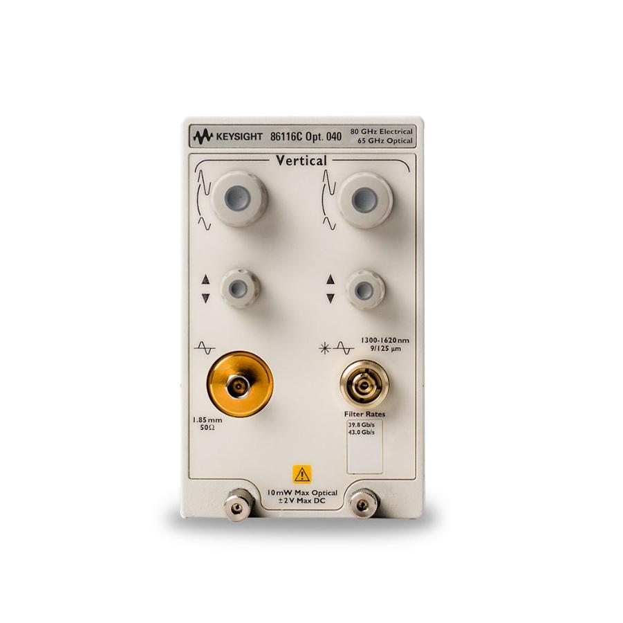 Keysight 86116C 40至65 GHz光学和80 GHz电气插入式模块