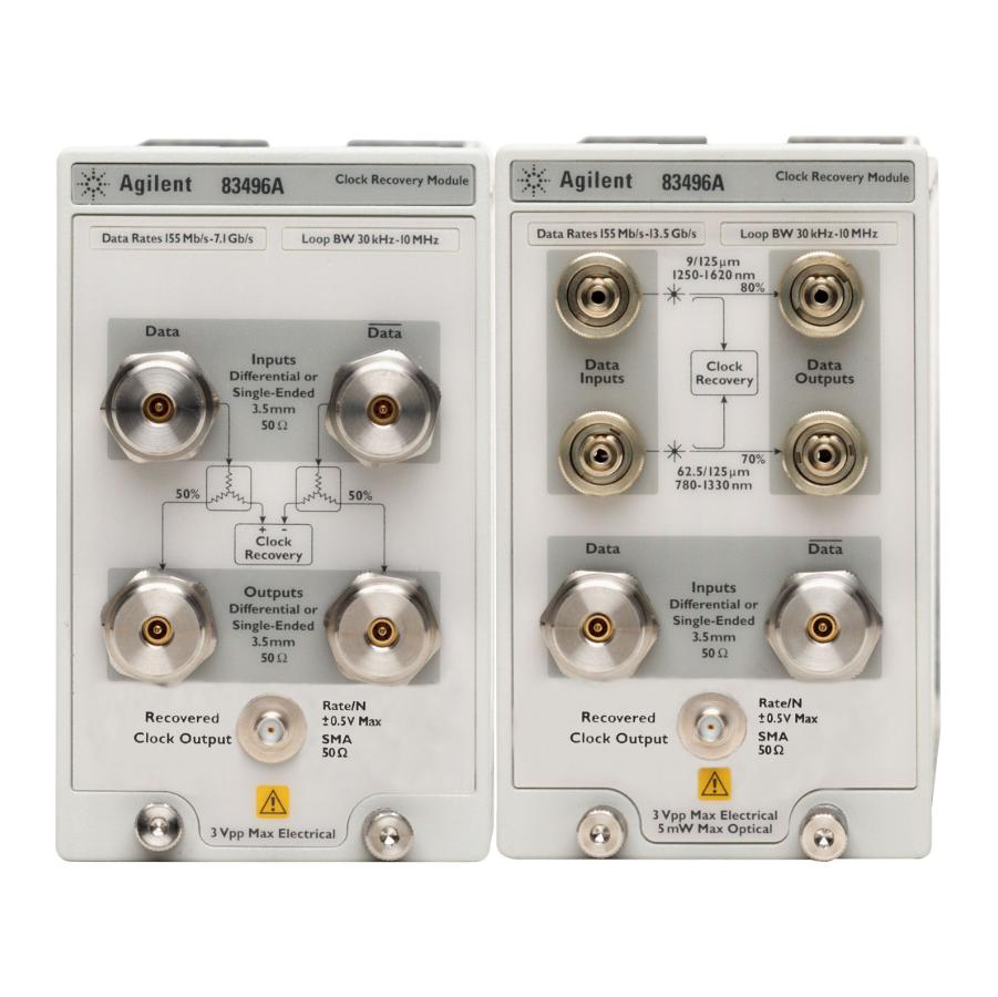 Keysight 83496A 光/电时钟恢复模块