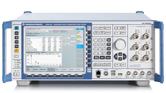 R&S®CMW500 宽带无线电通信测试仪